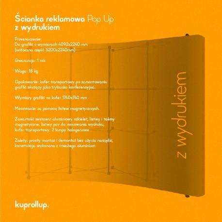 Ścianka Pop Up 3x3 z wydrukiem