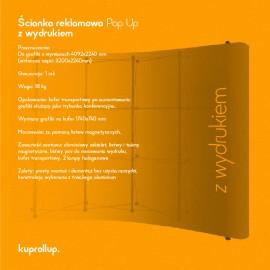 Ścianka Pop Up 3x4 z wydrukiem