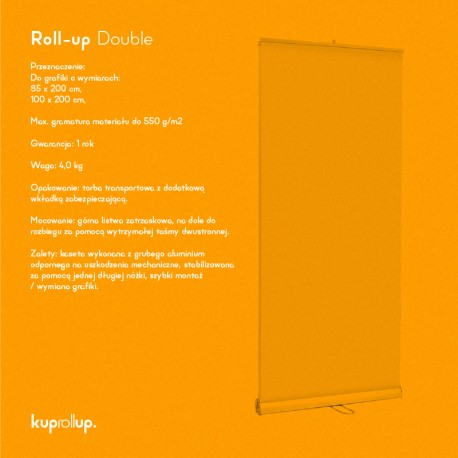 Rollup Double 85x200cm