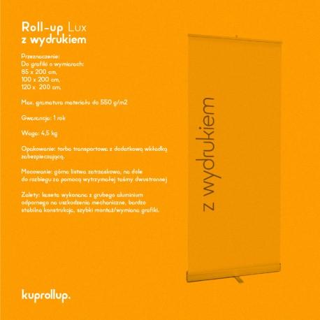 Rollup LUX 100x200cm z wydrukiem