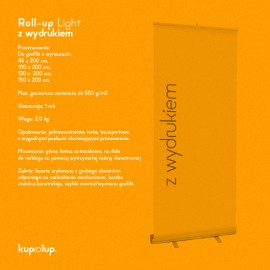 Rollup Light 100x200cm z wydrukiem