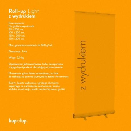 Rollup Light 120x200cm z wydrukiem