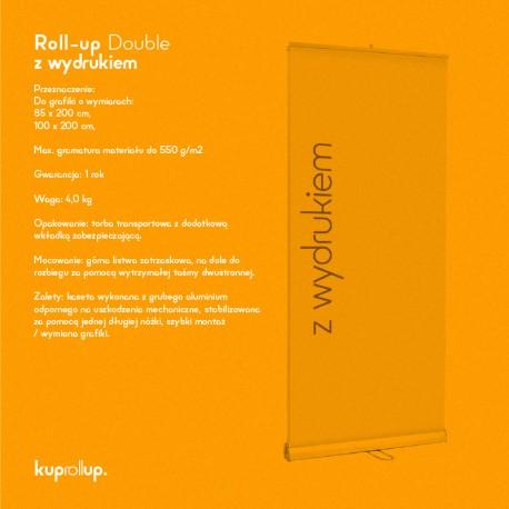 Rollup Double 100x200cm z wydrukiem
